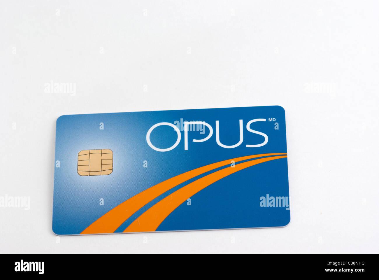 Carte Opus Montreal.Carte Opus De Transports Publics De Montreal Quebec Canada