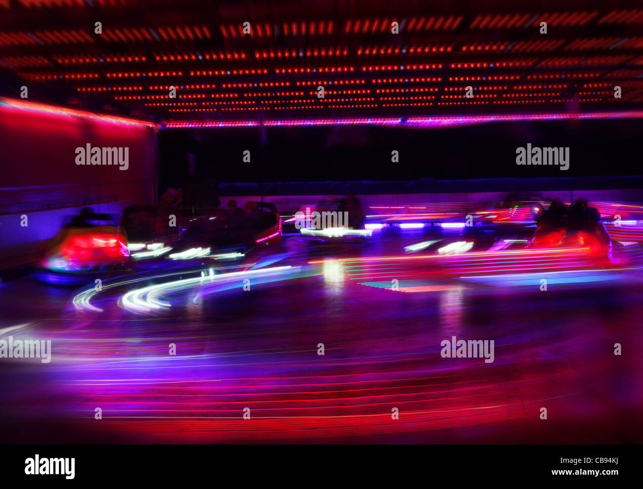 Dodgem cars in motion Photo Stock
