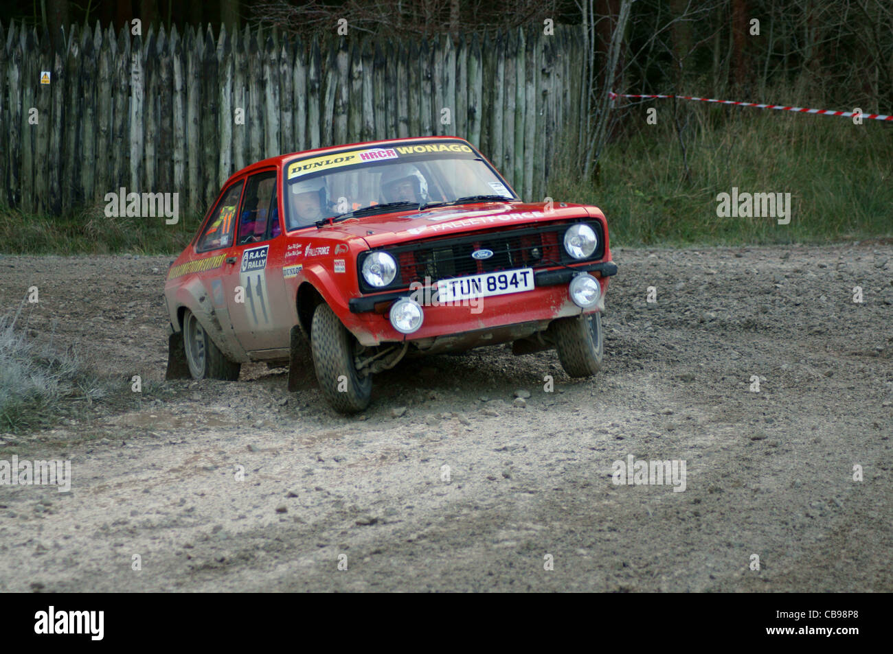 ford escort rs 1800 voiture de rallye photo stock