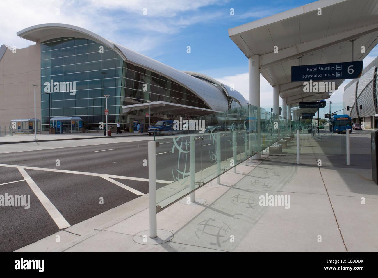 L'extérieur de l'Aéroport International de San Jose en Californie, porte de la Silicon Valley Photo Stock