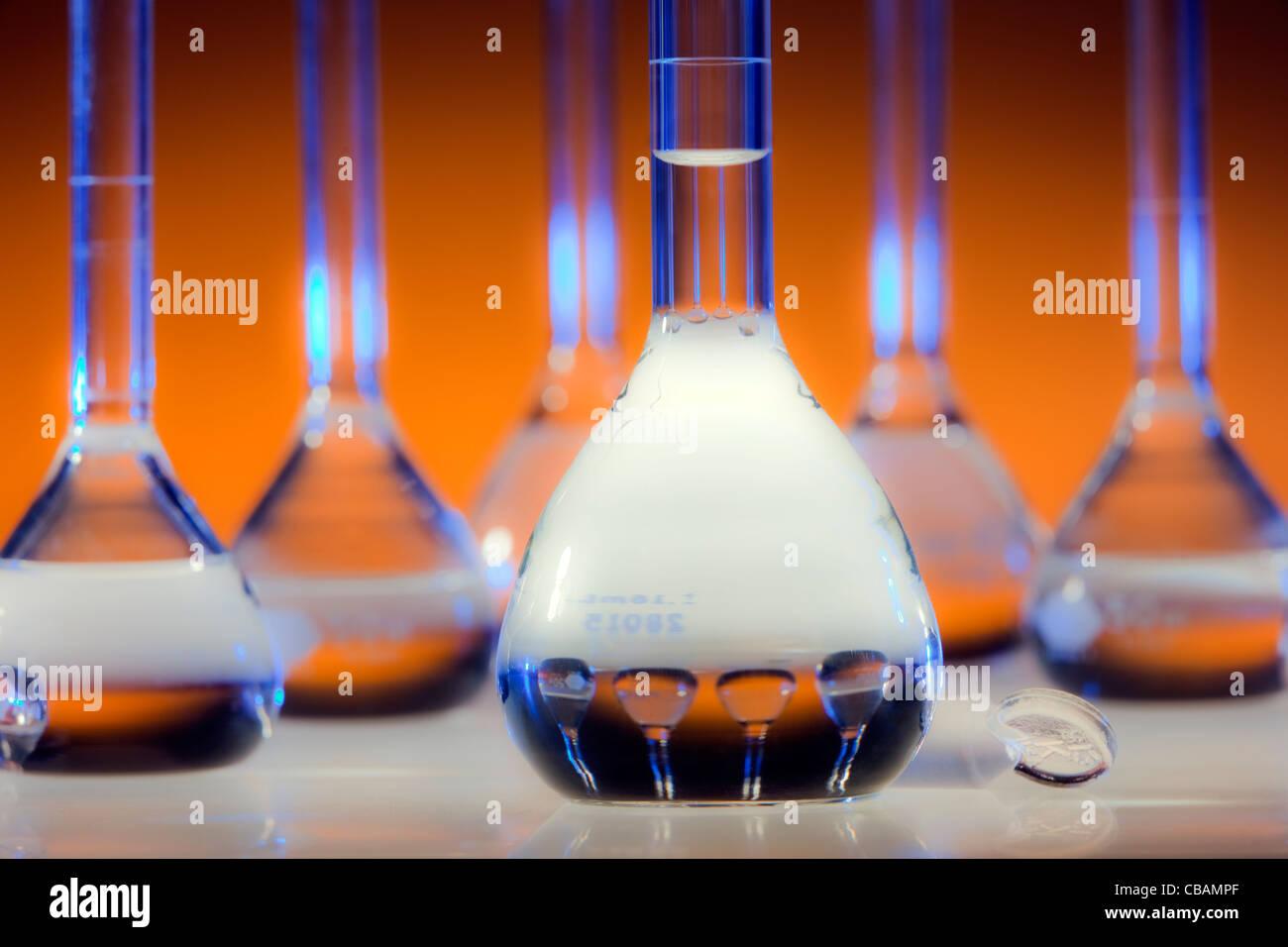 Verrerie chimiques Photo Stock