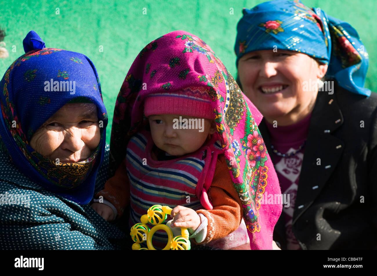 Trois générations ensemble. Photo Stock