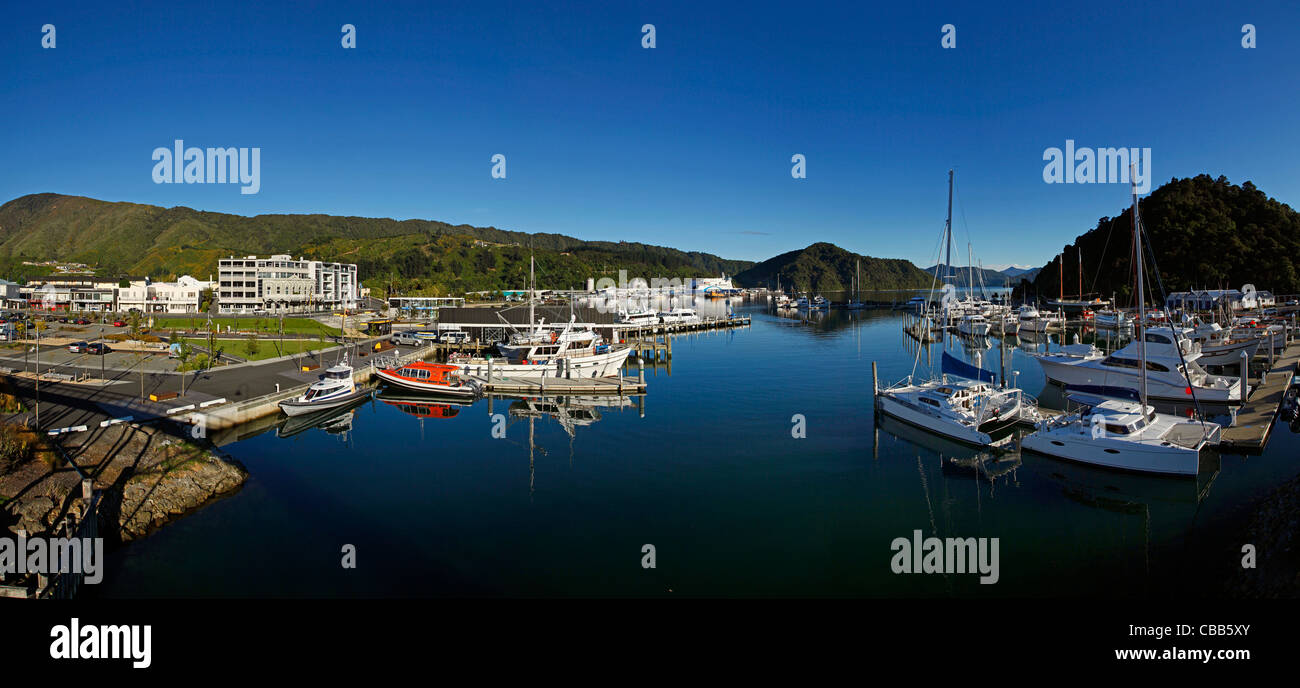 Picton, Marlborough, île du Sud, Nouvelle-Zélande Photo Stock