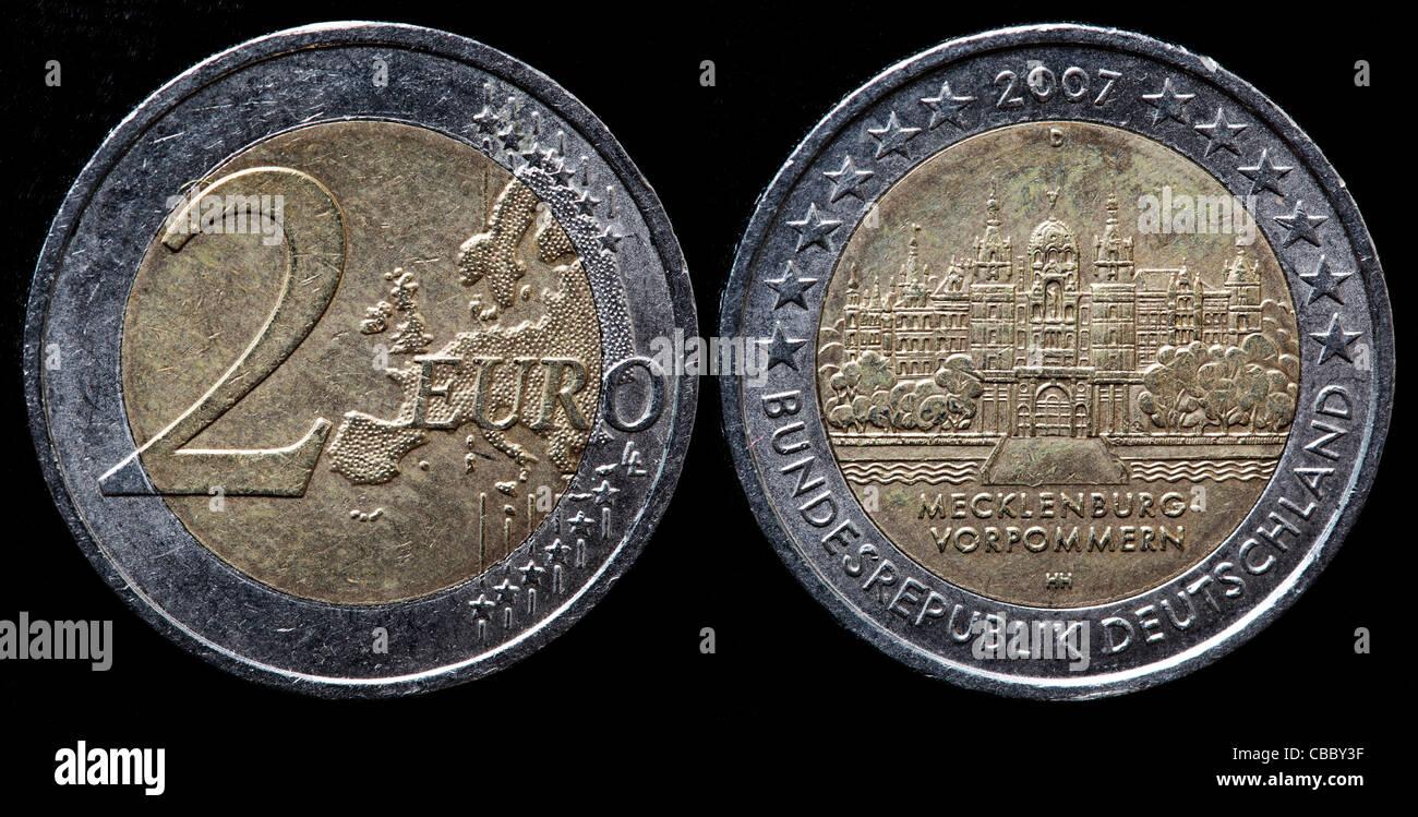 Pièce De 2 Euros Mecklenburg Vorpommern Allemagne 2007 Banque D