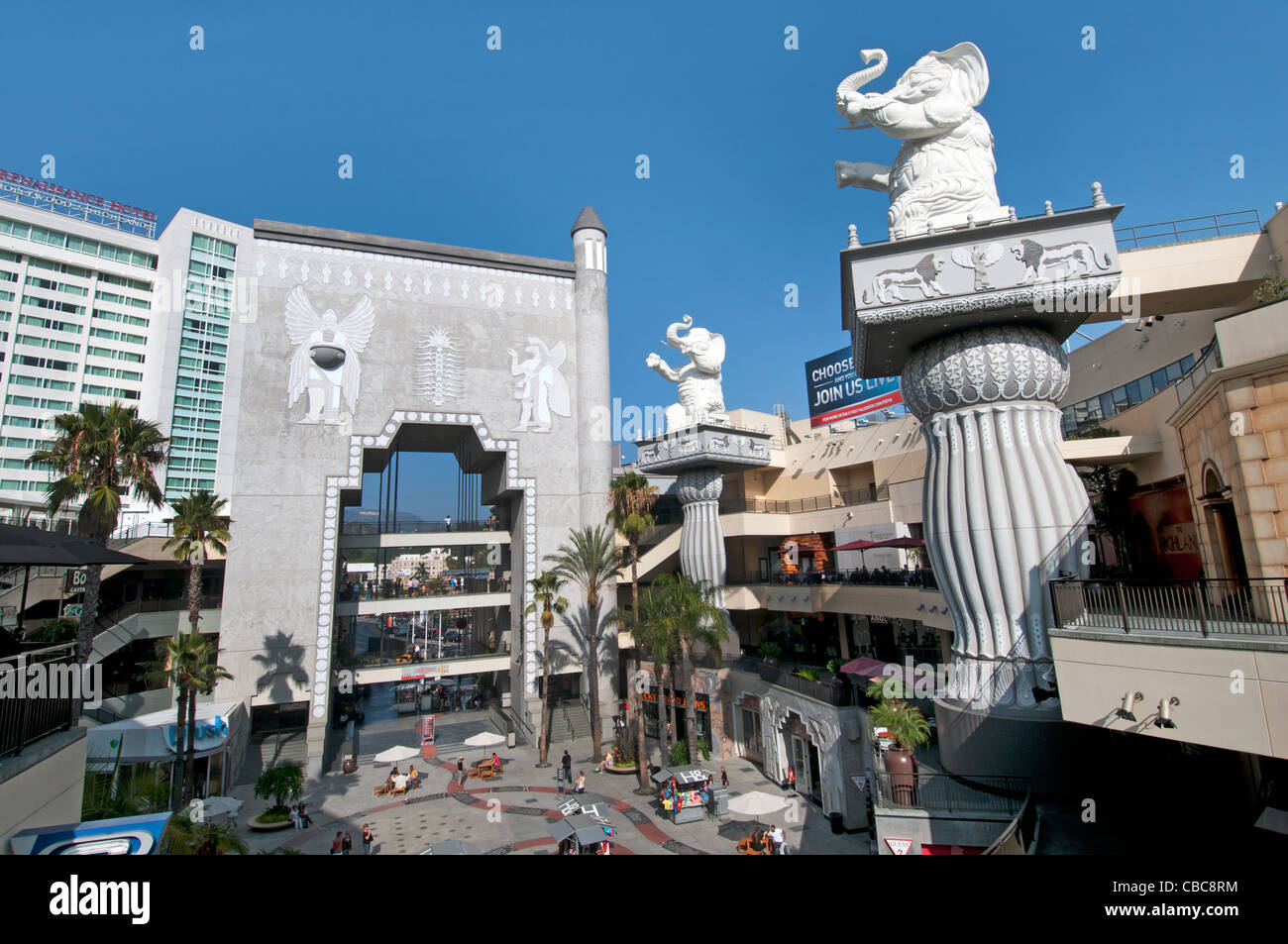 Cour Babylone Kodak Theater de Hollywood Boulevard California United States of America USA Américain Town City Photo Stock