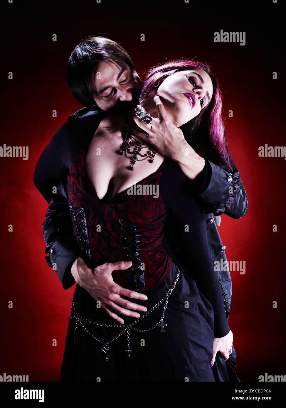 Couple de vampire Photo Stock