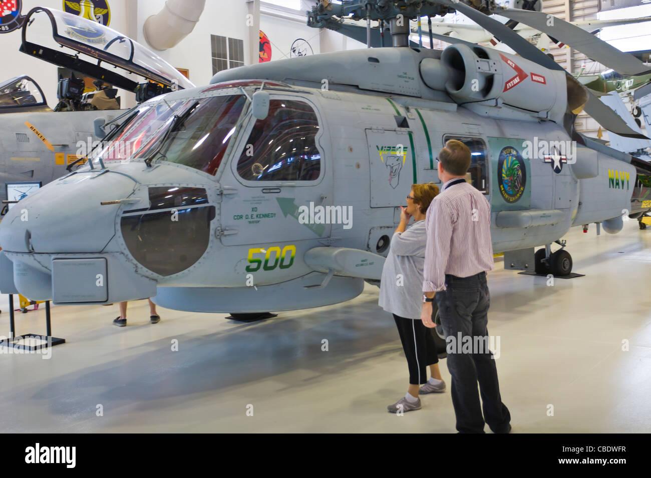 Musée de l'aviation de la Marine nationale dans la région de Pensacola en Floride Photo Stock