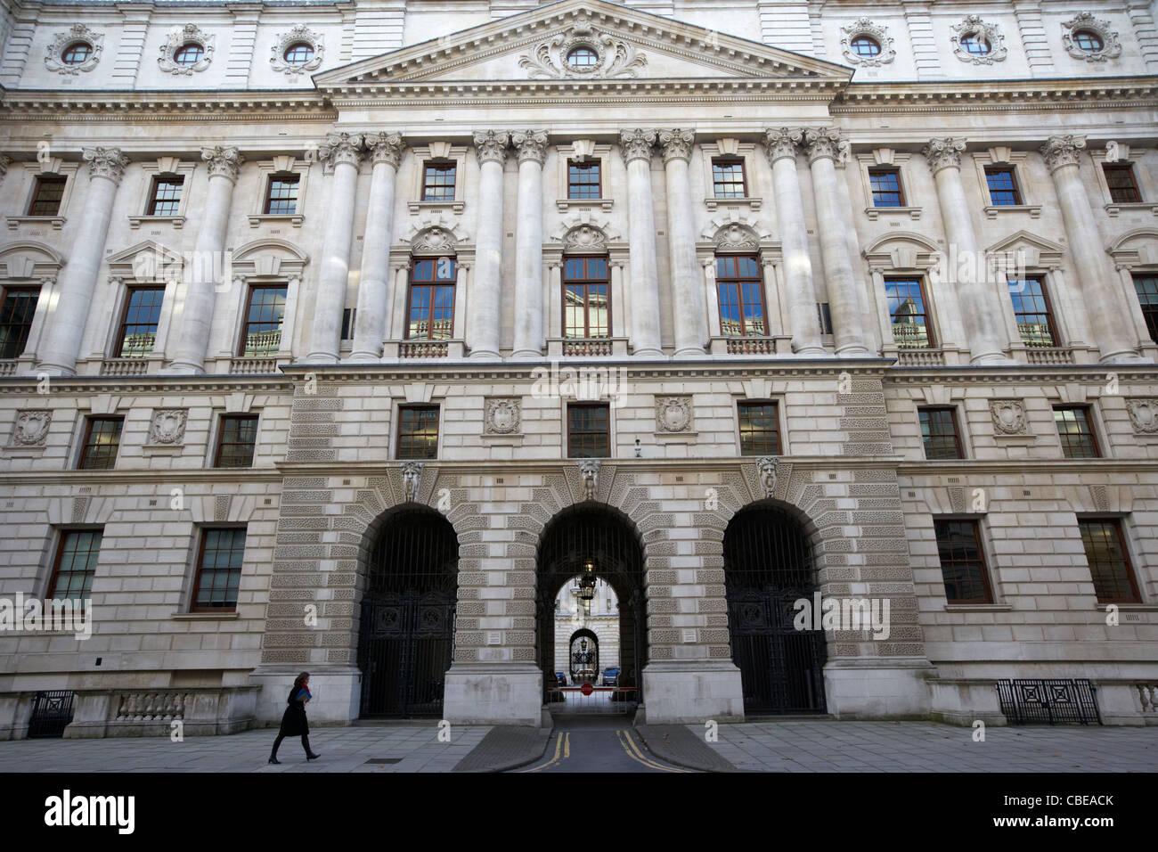 Hm revenue and customs et HM Treasury Building officiel du gouvernement britannique whitehall Londres Angleterre Photo Stock