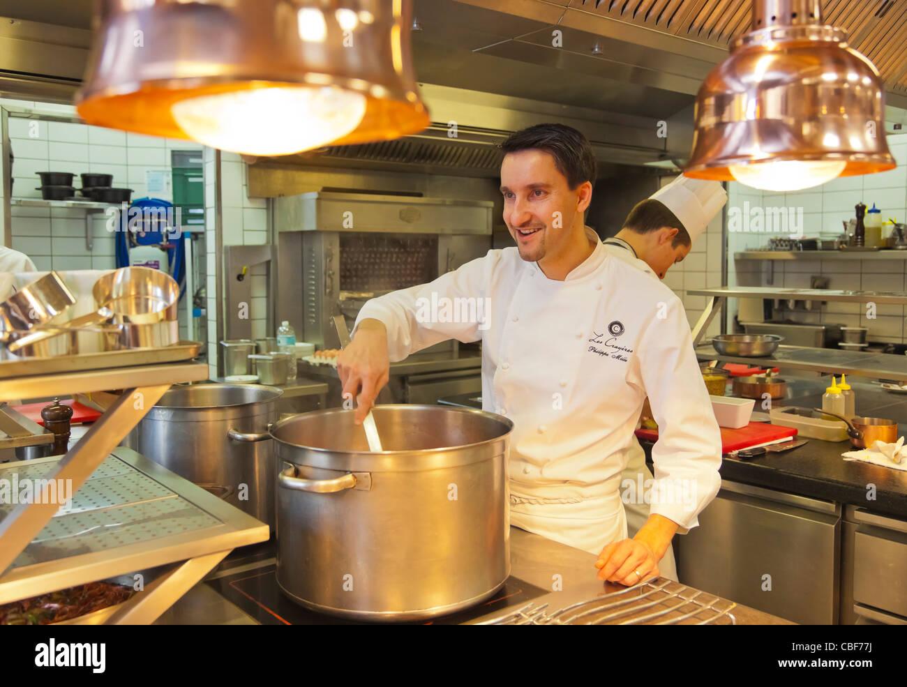Portrait du chef, l'Art de la cuisine., membre de la chaîne des Relais & Châteaux, Les Crayères Photo Stock