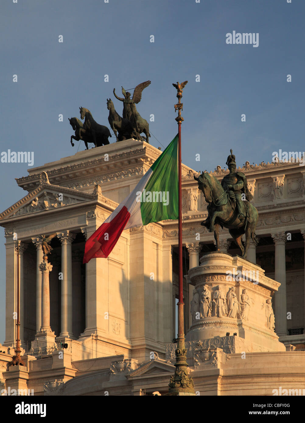 L'Italie, Lazio, Rome, Vittoriano, Photo Stock