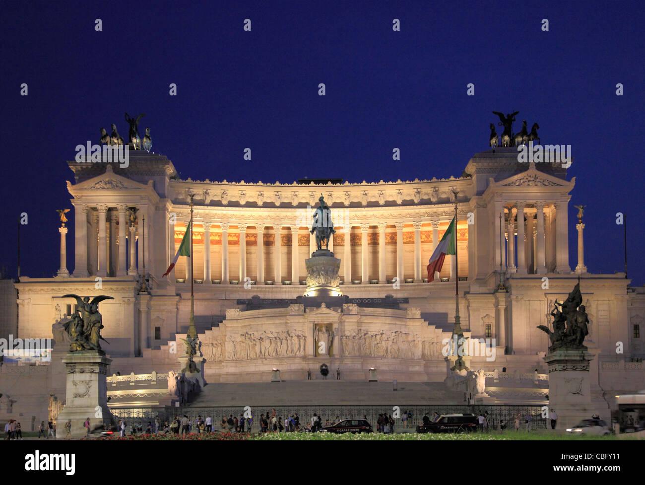 L'Italie, Lazio, Rome, Vittoriano, monument, Photo Stock