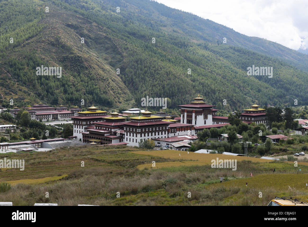 Tashichhodzong - Thimphu, Bhoutan Photo Stock