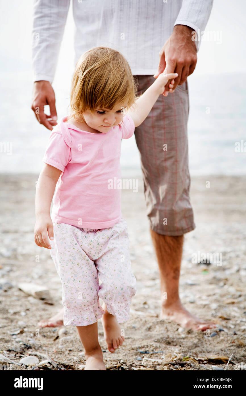 Le père et l'enfant Photo Stock