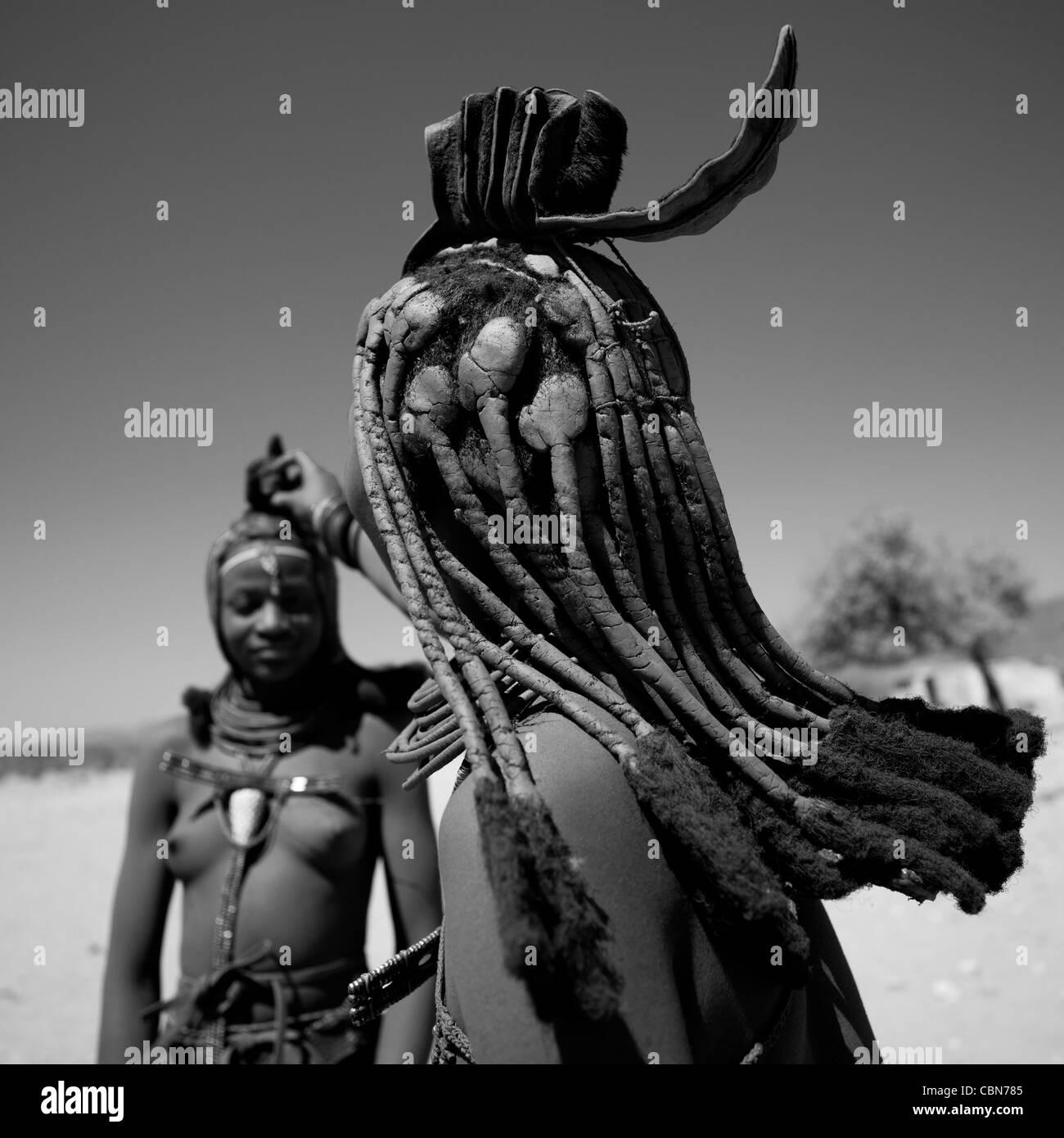 Les femmes Himba, Angola Photo Stock