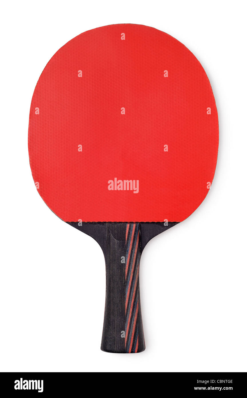 Raquette de Tennis de Table, Cut Out. Photo Stock