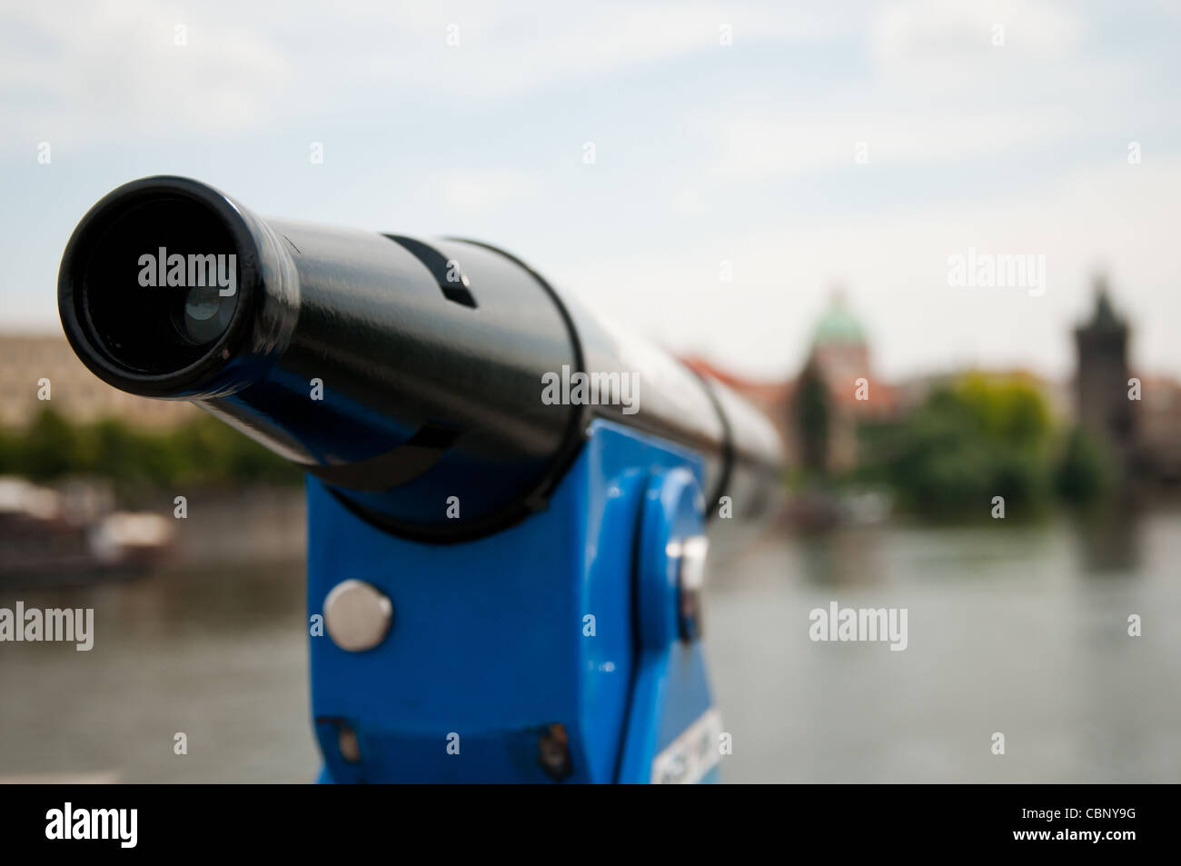 Donnant sur télescope pour Prague Photo Stock