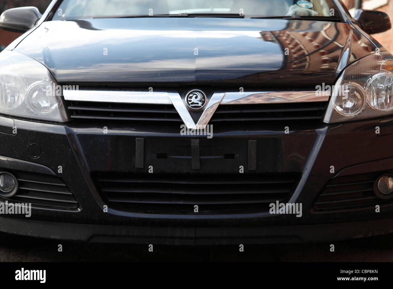 Les plaques d'immatriculation des véhicules volés dans une voiture au Royaume-Uni. Banque D'Images