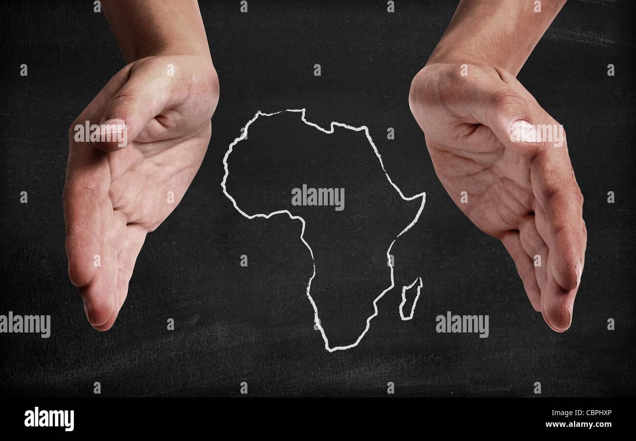 Soutenir l'Afrique Photo Stock