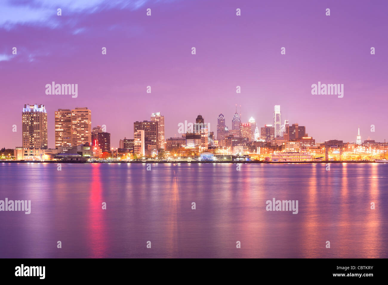 Toits de centre-ville de Philadelphie, Pennsylvanie, USA Photo Stock