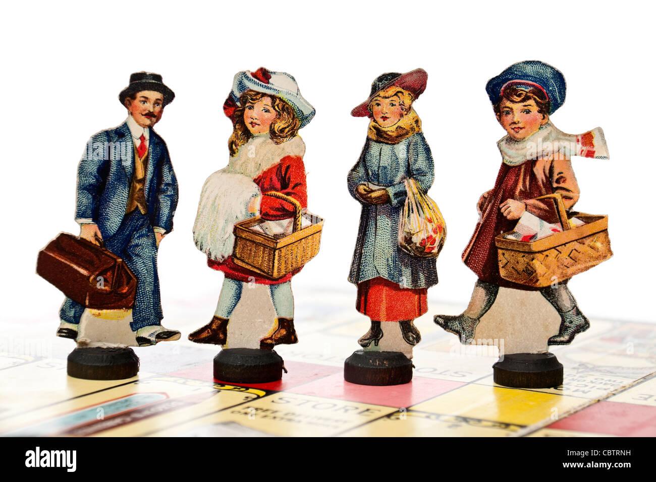 Edwardian antique (1915) 'petit jeu des acheteurs par Gibson Games Banque D'Images