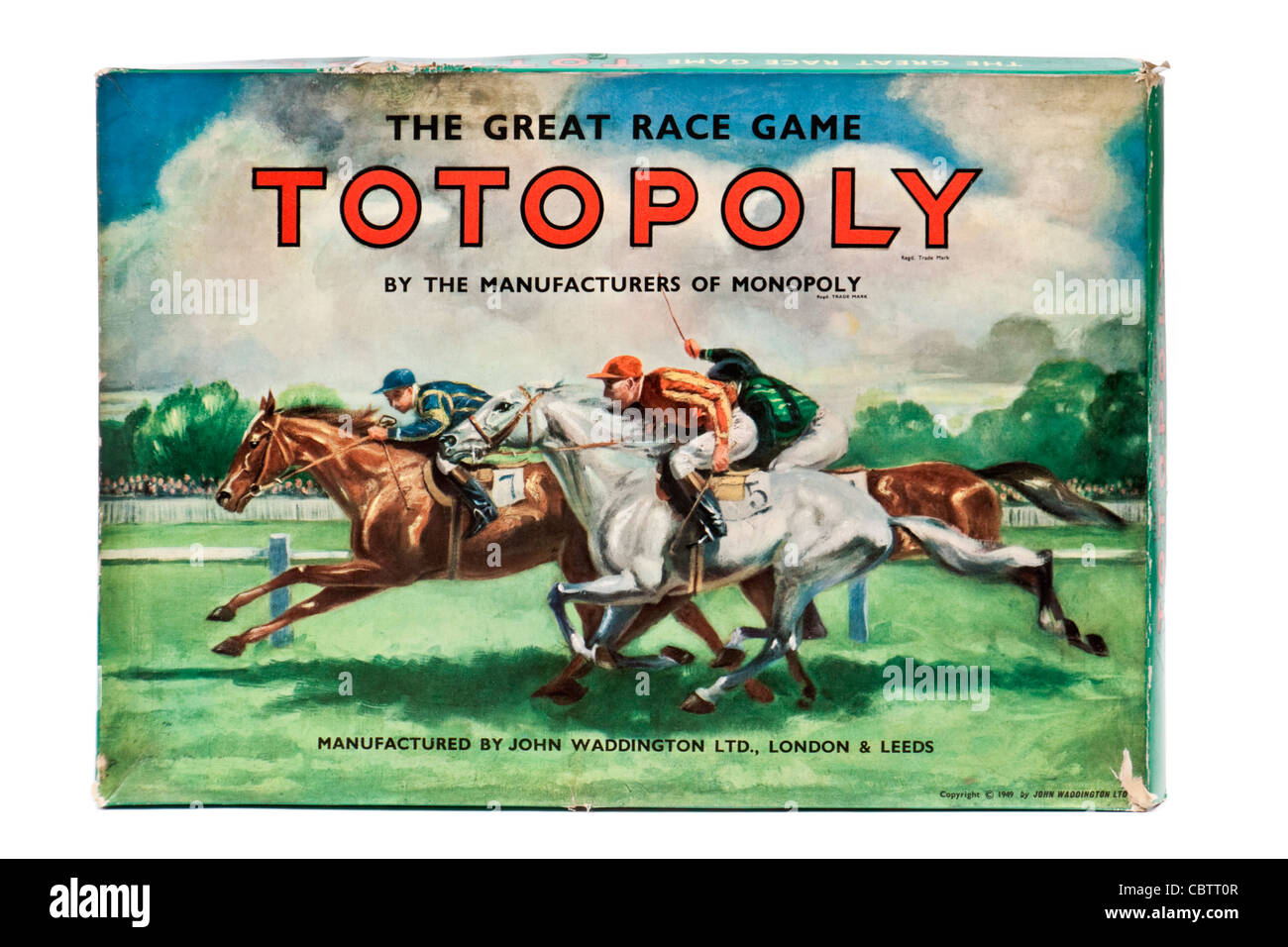 1949 'vintage' Totopoly jeu de courses de chevaux par John Waddington Ltd. Banque D'Images
