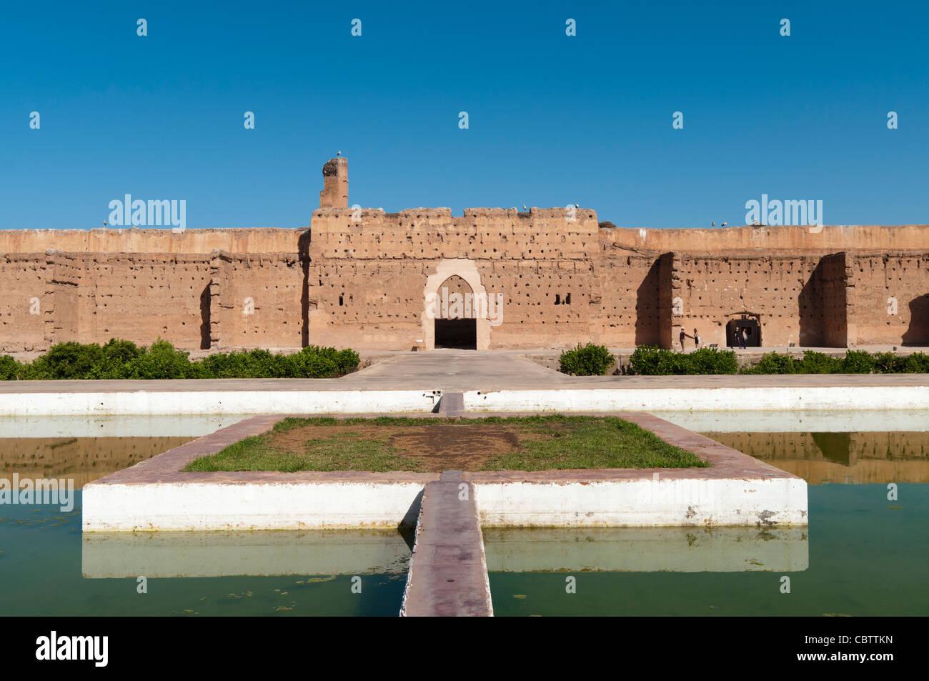 Palais El Badi Marrakech,Maroc, ruines Banque D'Images