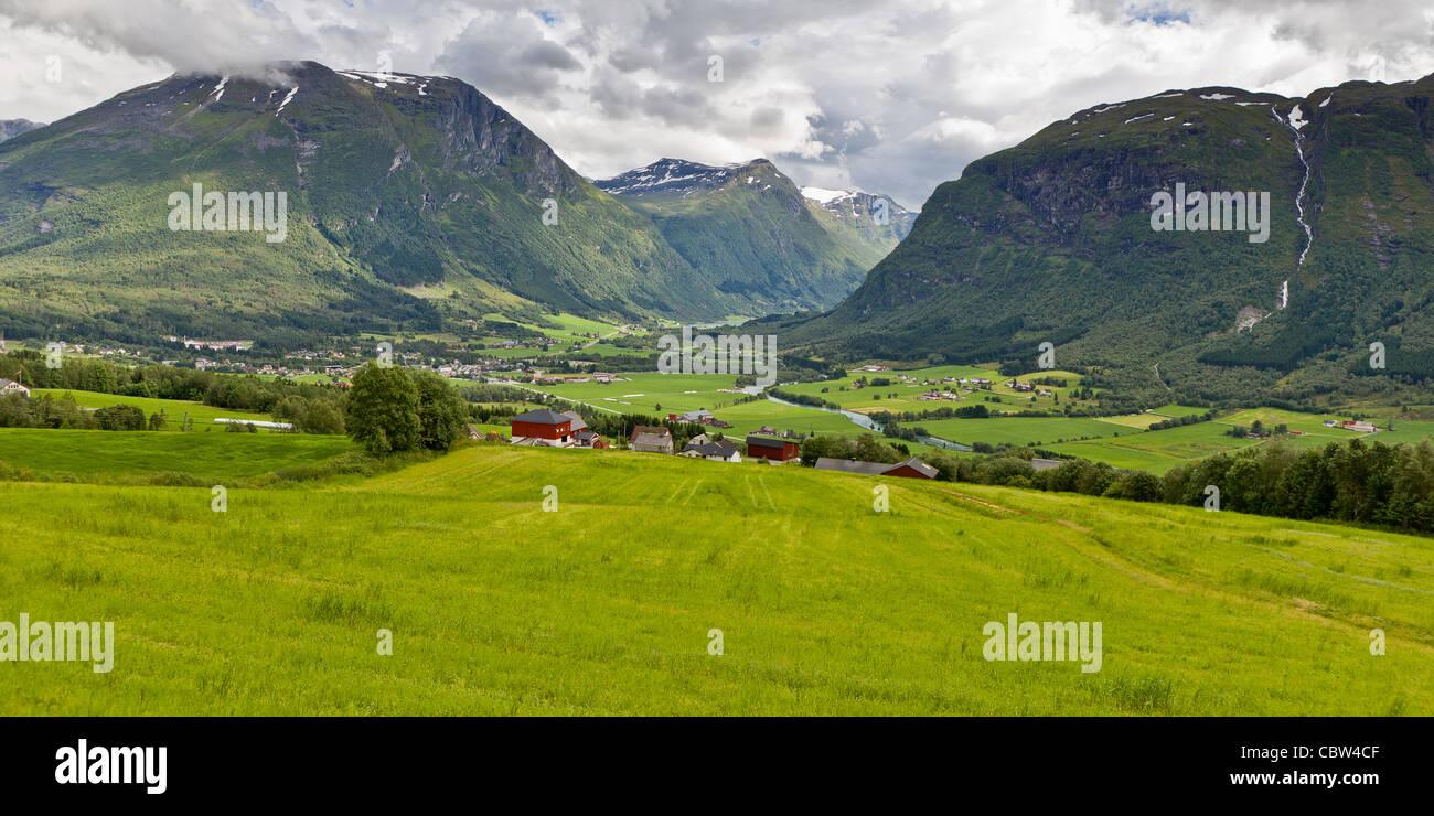 Paysage de fjord, Vatnedalen, Norvège Photo Stock