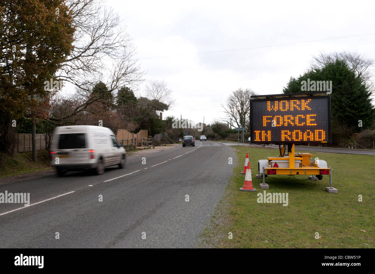 Matrice Mobile Traffic Sign Photo Stock