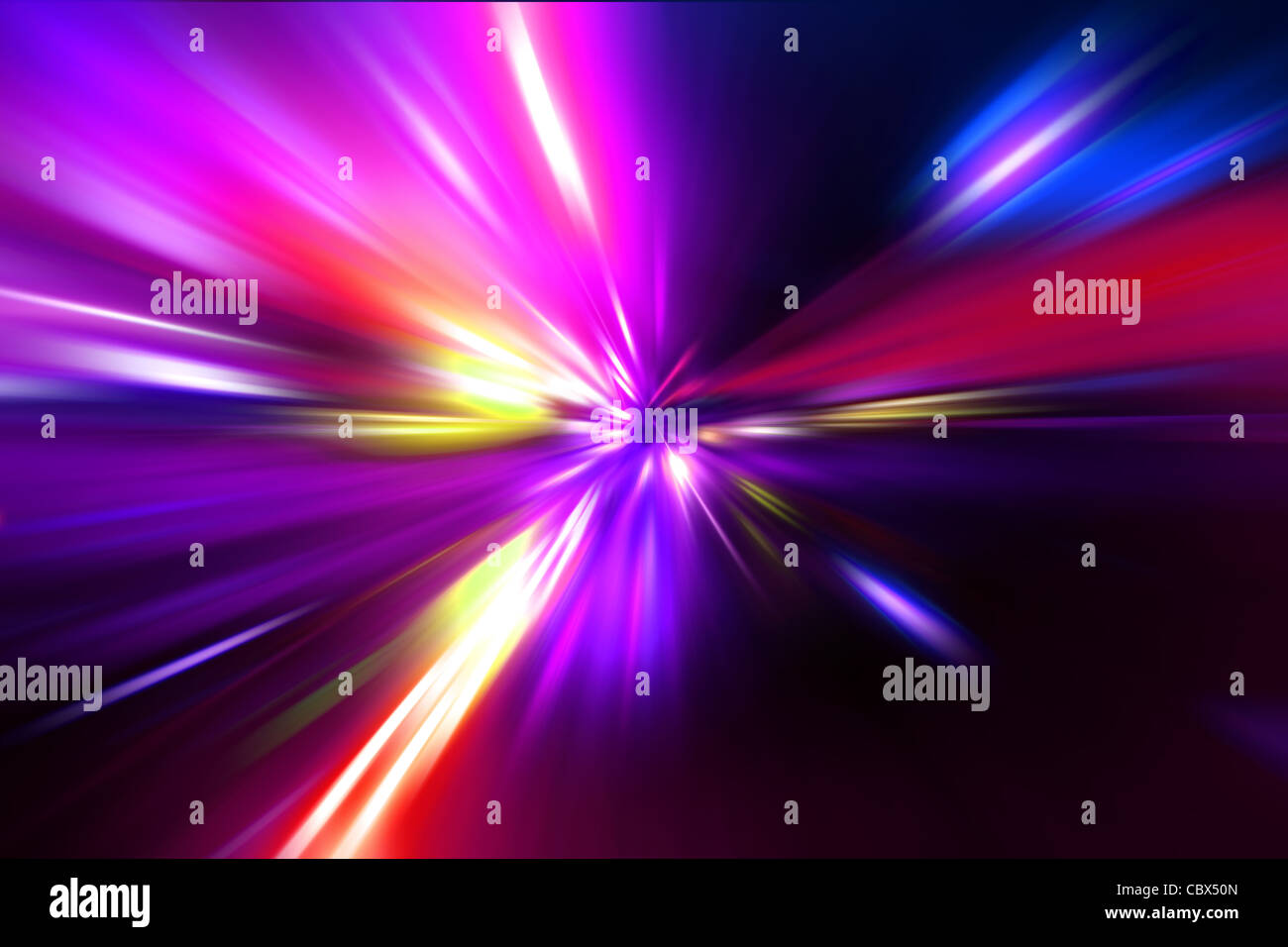 Motion de la vitesse sur route de nuit Photo Stock