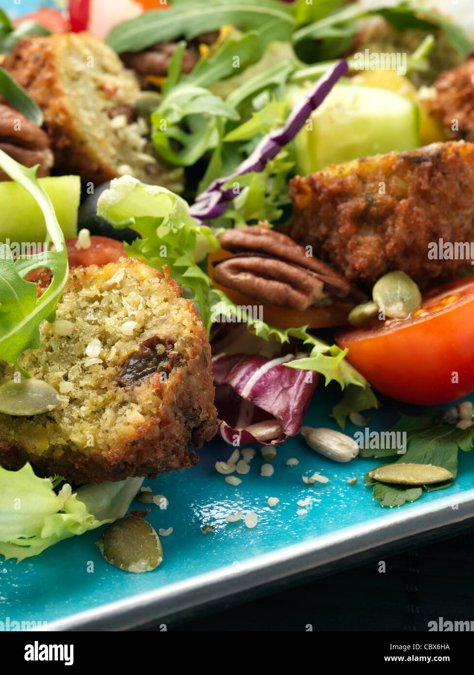 salade de falafels Photo Stock