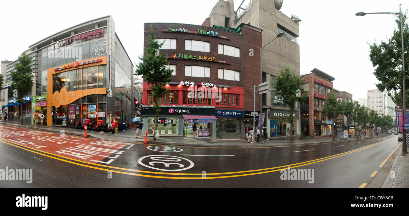 Les Rues De Seoul Coree Pendant Les Heures De Travail Banque D