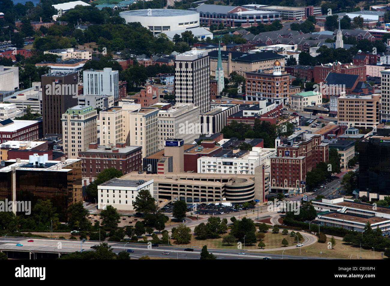 Photographie aérienne de Chattanooga, Tennessee Photo Stock