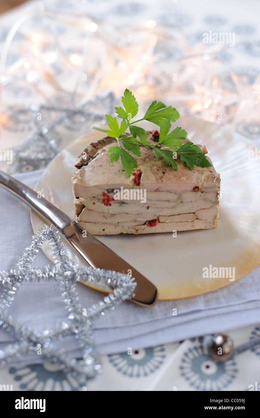 Mille-feuilles de Foie Gras Photo Stock