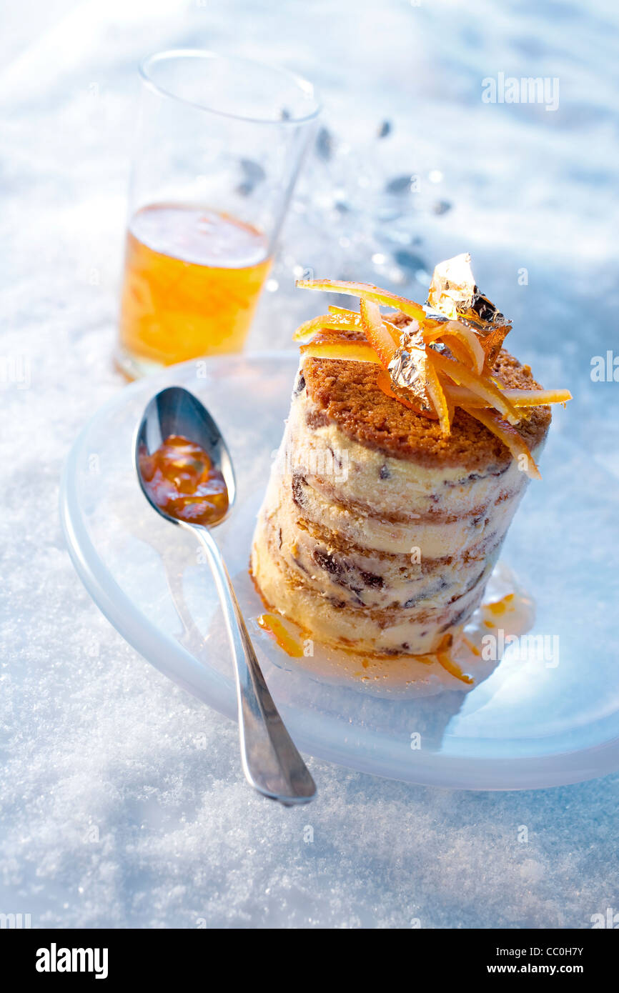 Gingerbread Mille-Feuille aux pruneaux Photo Stock
