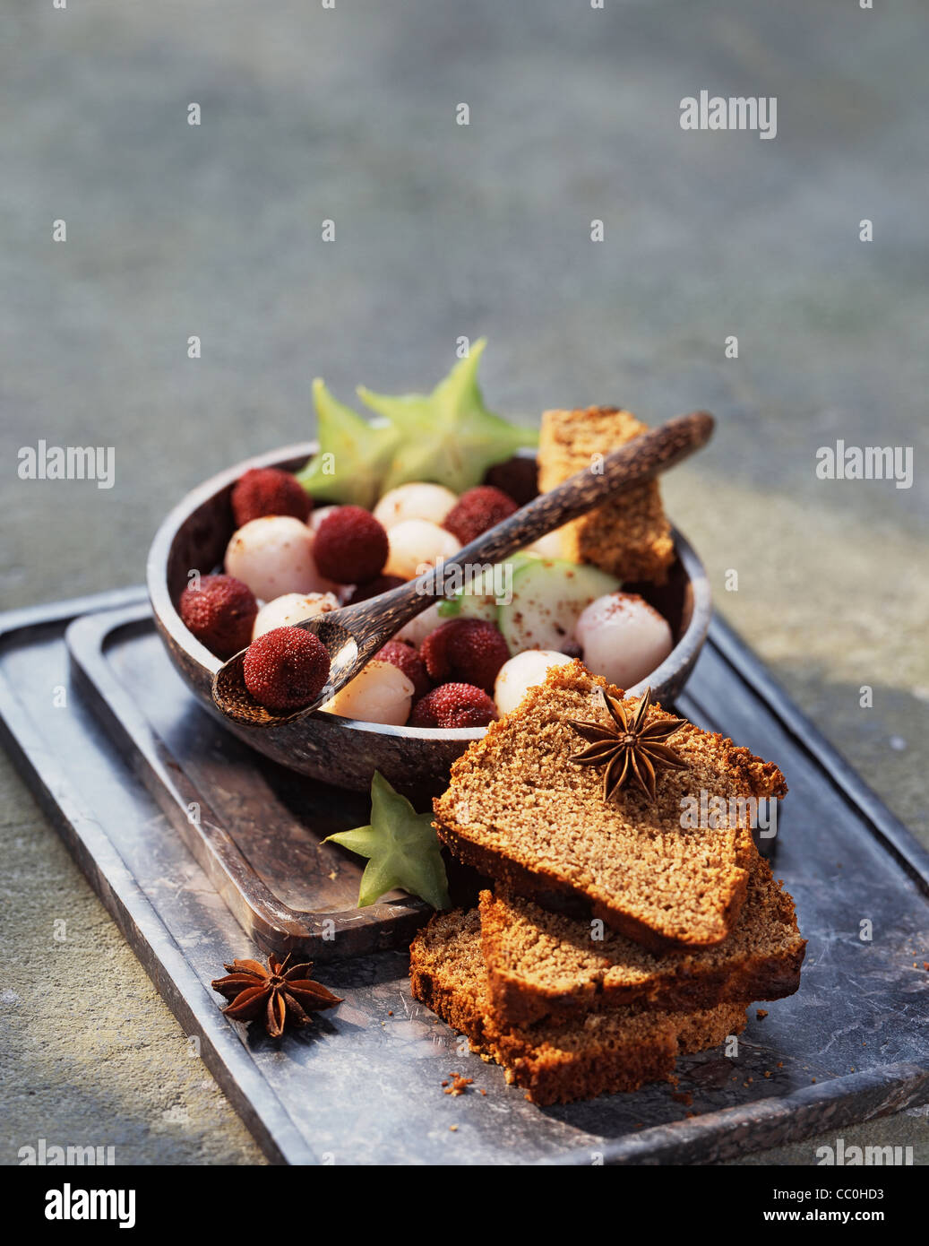 Avec salade de fruits d'épices chinois Photo Stock