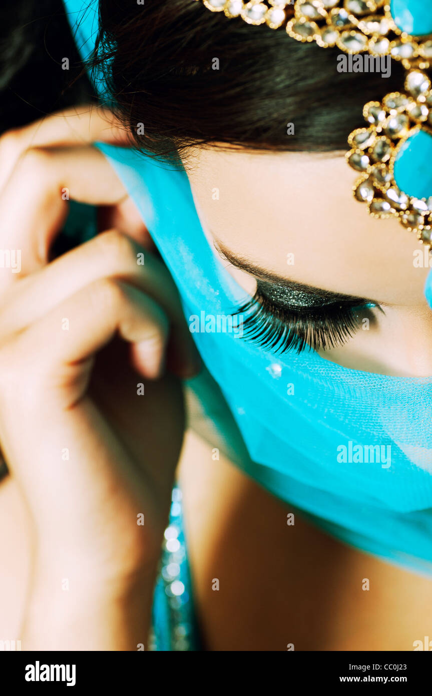 Belle femme indienne Photo Stock