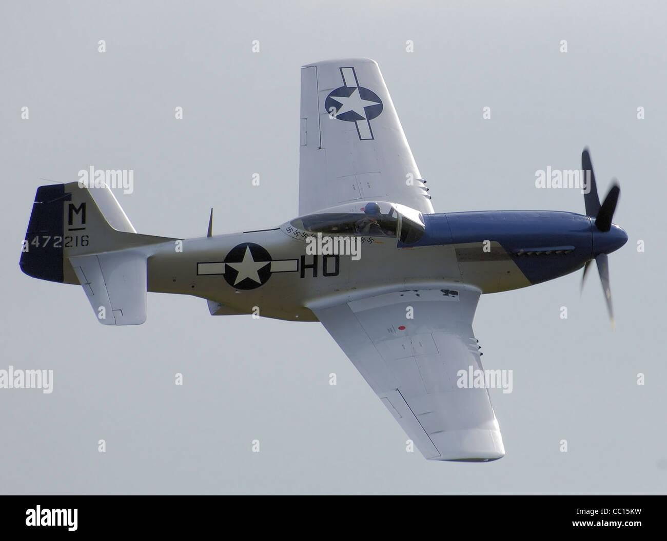 North American P-51D-20 (472216/HO-M, G-BIXL, Miss Helen) Photo Stock