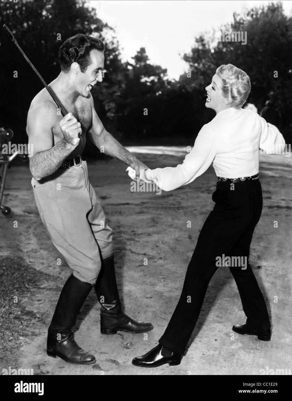 RICARDO MONTALBAN, Lana Turner, de l'amoureux, 1953 Photo Stock