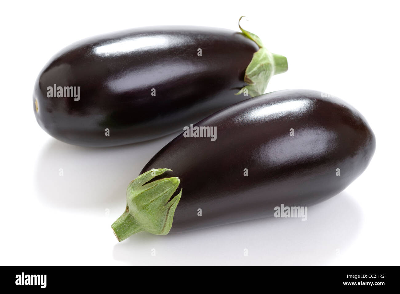 Aubergine aubergine ou isolé sur fond blanc Banque D'Images
