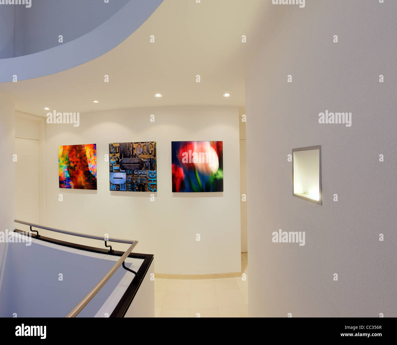 ARCHITECTURE: galerie privée Afficher (Allemagne/Bad Toelz) Photo Stock