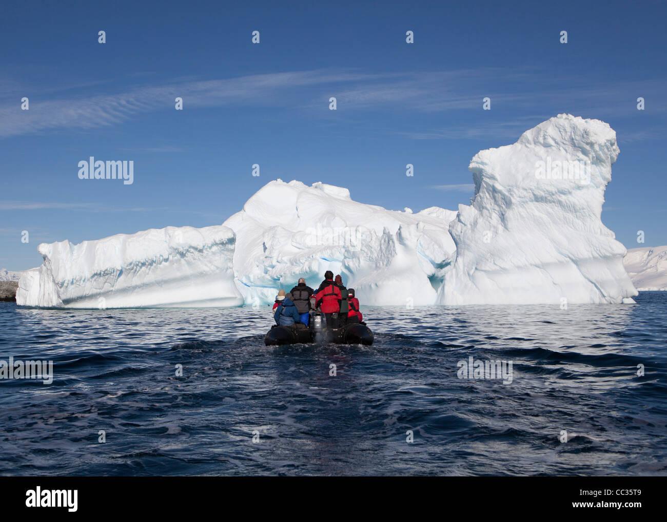 Ice Bergs, Antarctique, îles Melchior Photo Stock
