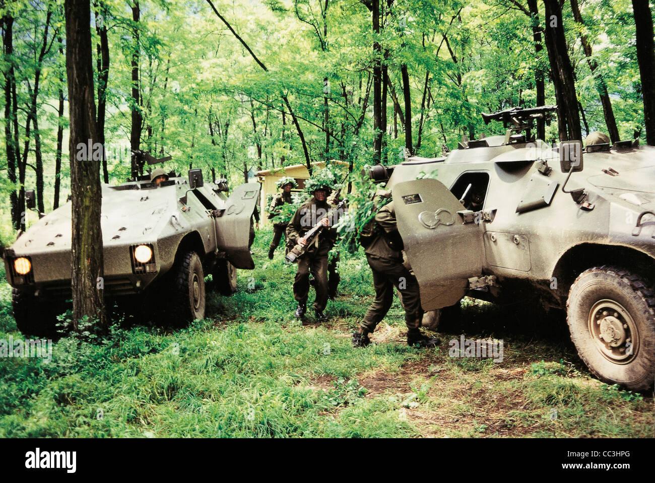 Les véhicules militaires blindés Puma Italie 20e siècle années 1990 Photo Stock