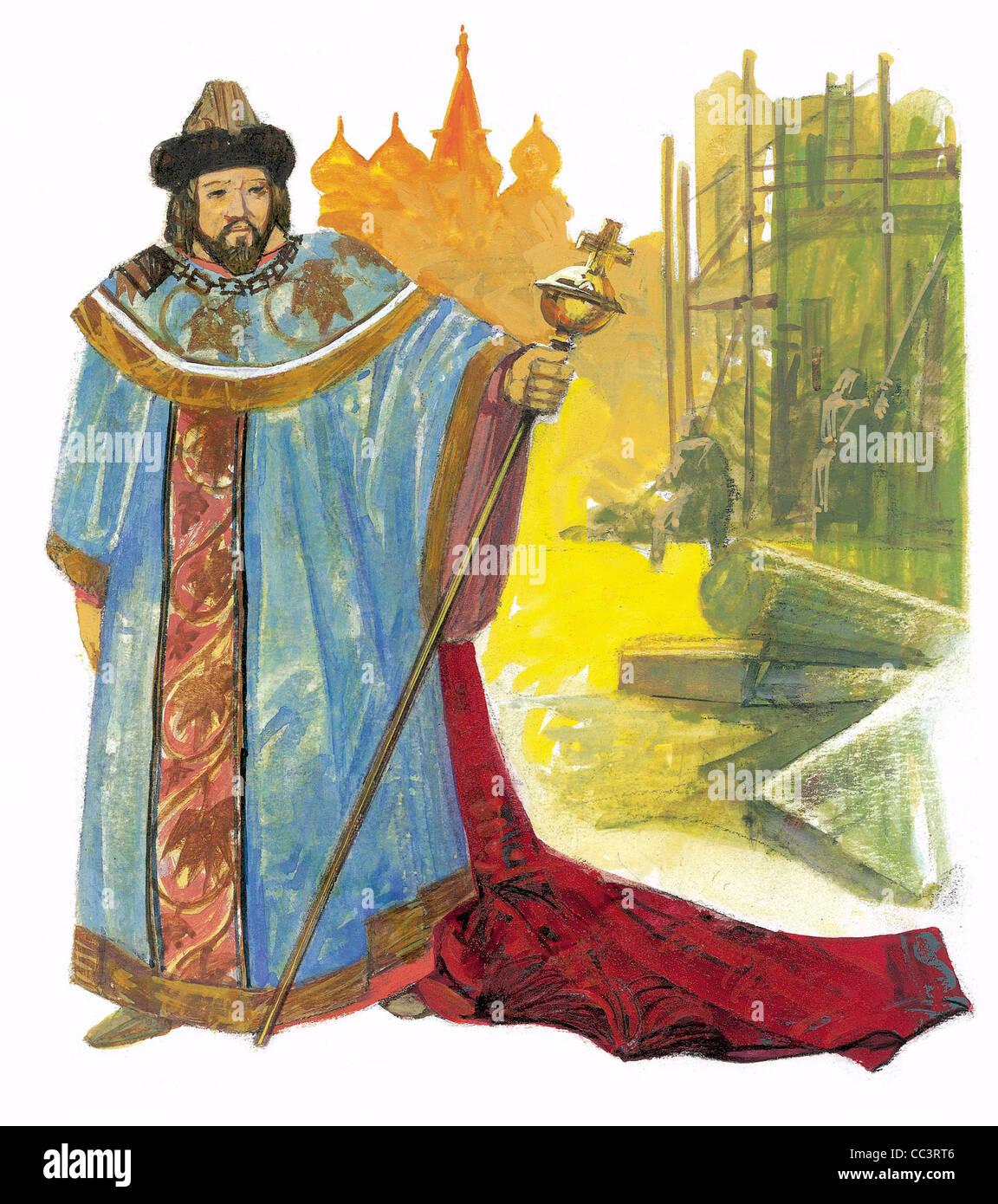 La Russie, 16ème siècle. J'ai(van IV (1530-1584), connu sous le nom de Ivan le Terrible. C'était Photo Stock