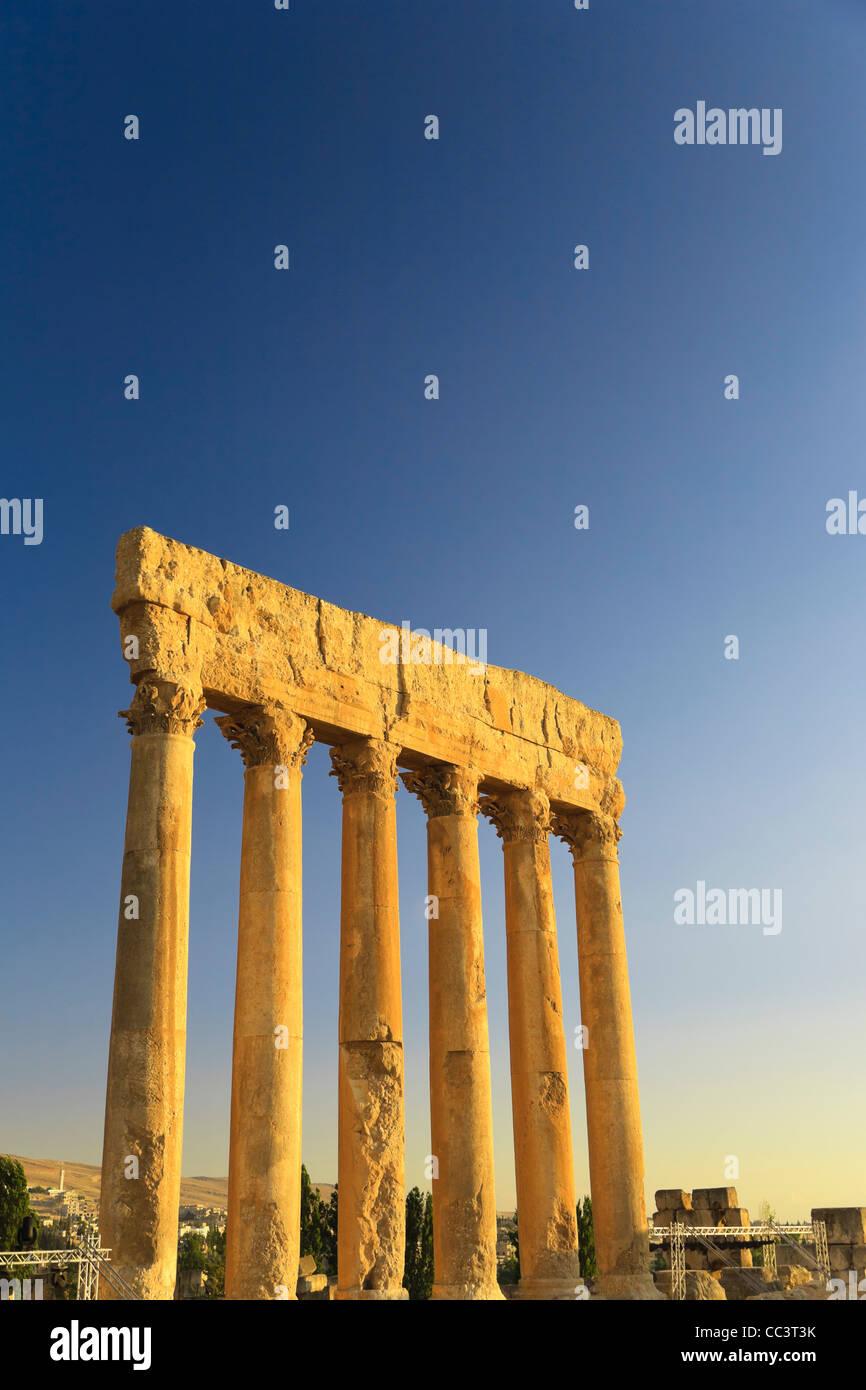 Liban, Baalbek, Temple de Jupiter Photo Stock