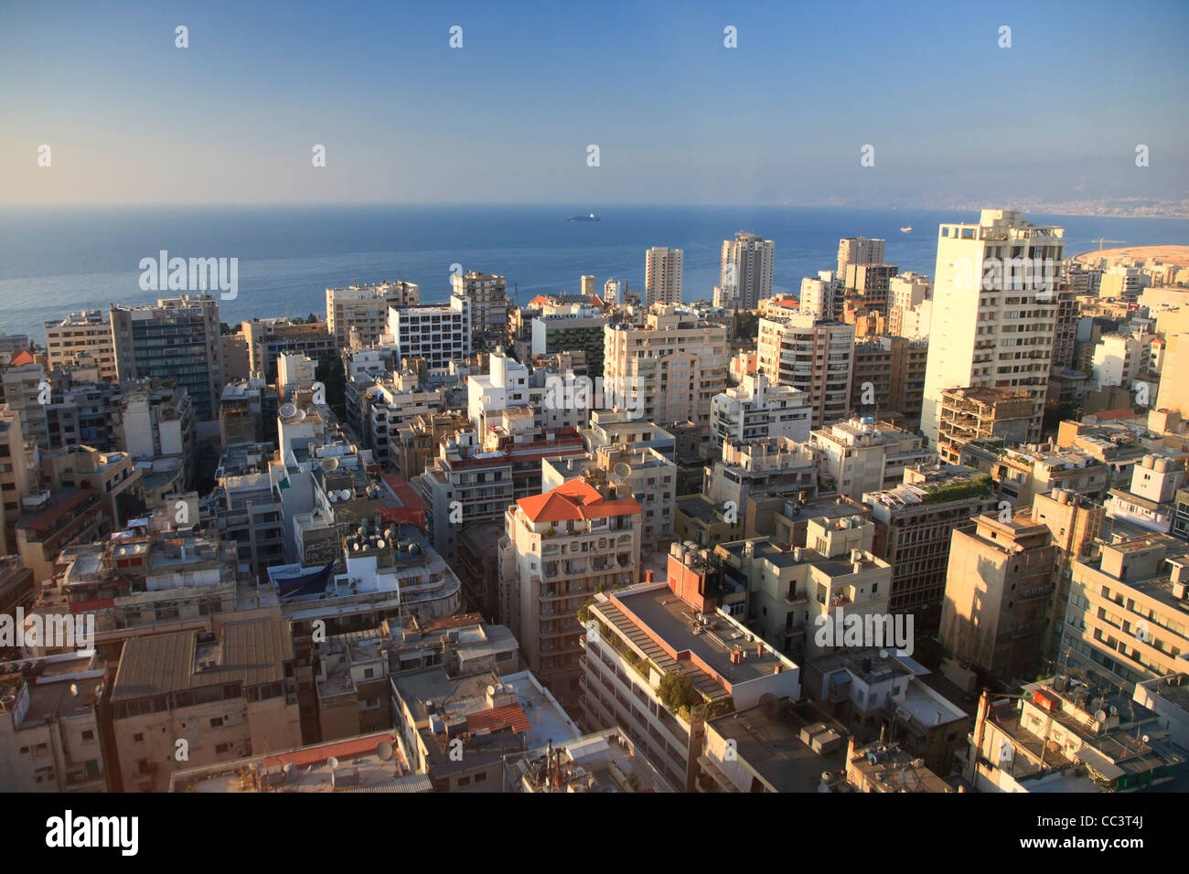 Liban, Beyrouth, vue aérienne Photo Stock