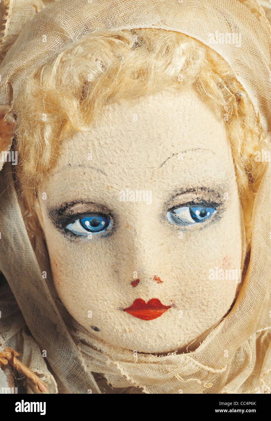 La collecte de jouets du xxe siècle. Poupée Furga. 30S. H. Cm. 58. Particulier Photo Stock