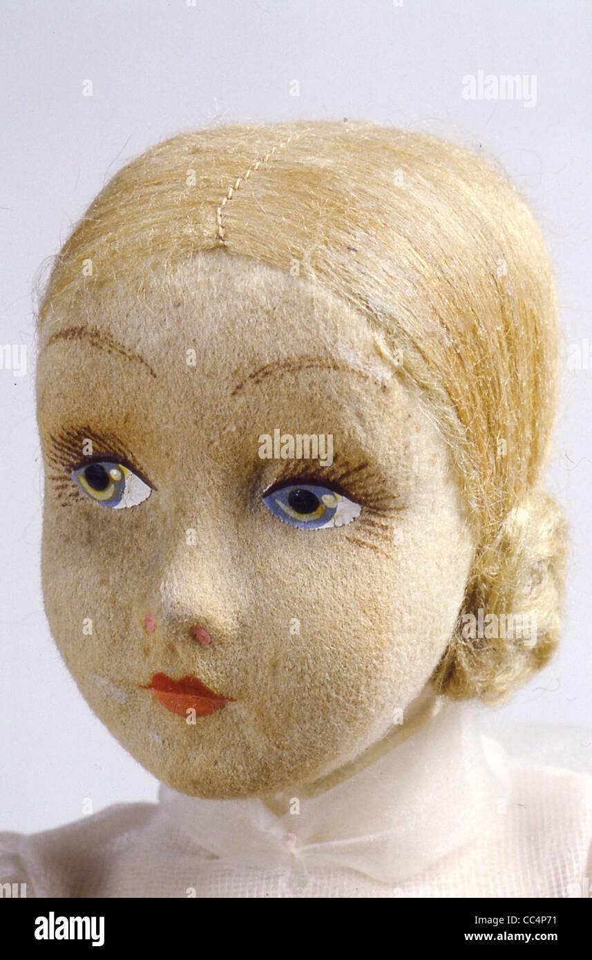 La collecte de jouets du xxe siècle. Poupée Furga. 30S. H. Cm. 44. Particulier Photo Stock