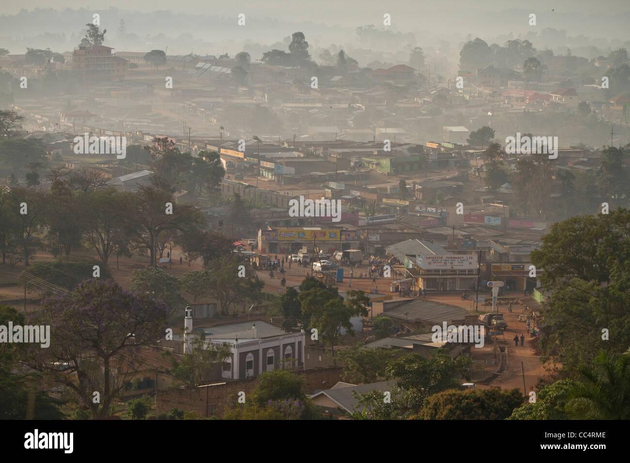 Vue sur Mubende, Ouganda, Afrique de l'Est. Photo Stock