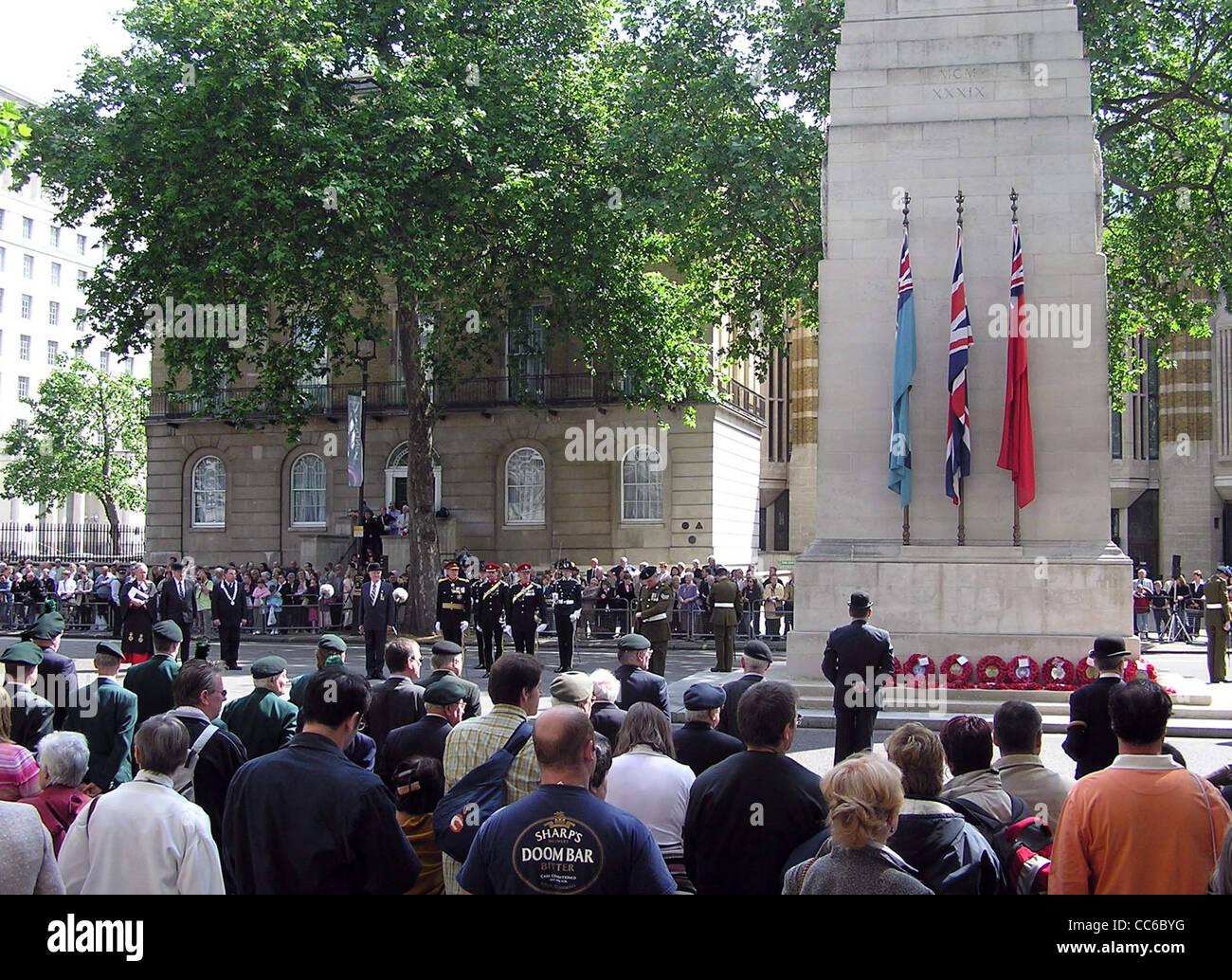 Une cérémonie au cénotaphe, Londres, le dimanche 12 juin 2005, se souvenant de la guerre irlandaise Photo Stock