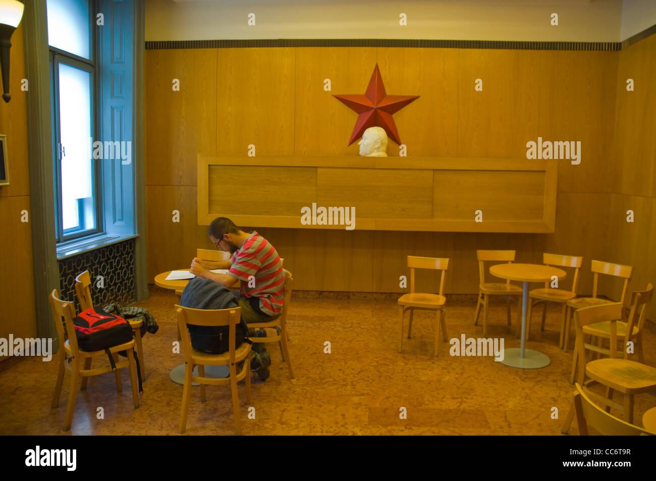 La terreur à l'intérieur salon Haza la Maison de la terreur des dictatures musée centre de Budapest Photo Stock
